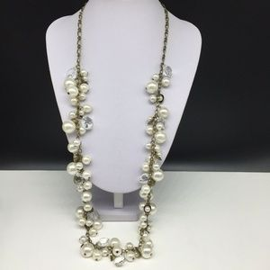 Chloe + Isabel Faux Pearl Beaded Crystal Necklace